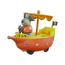 Peppa Pig Grandad Dog's Pirate Ship con Articulado Figura Push a lo largo de juguete