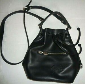 Vintage Guess Black Bucket Handbag GUC