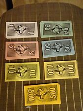 2000 Monopoly The .Com Edition Play Money Replacements Game Parts