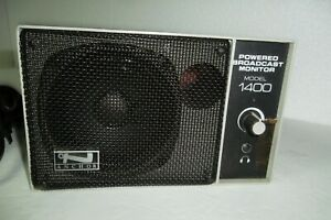 Anchor Powered Broadcast Monitor Model 1400 w/Power Cord AN-1400 (Tested Good)
