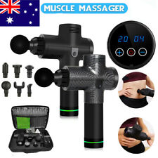 AU LCD Massage Gun Theragun TimTam Percussion Massager Muscle Relaxing 6 Heads