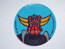 ADESIVO Sticker card vintage UFO ROBOT GOLDRAKE 1978 nome DANIELA