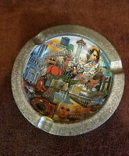 LAS VEGAS TIN SOUVENIR ; VEGAS STRIP ASHTRAY