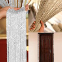 Glitter String Door Curtain Screen Room Dividers Voile Net Fringe Window Panel