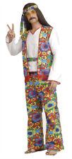 Hippie Dippie Man Adult Costume Floral Print Vest Halloween Forum Novelties