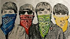 The Beatles one 24x36 poster Mr. Brainwash John Lennon Paul McCartney Music Art!