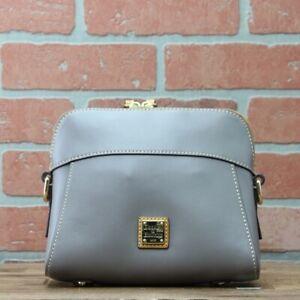 Dooney & Bourke Smooth Leather Crossbody-Greige