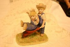 Denim Days #15355-02 The Wheelbarrow - Farmhouse Figurine
