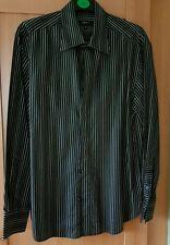 Next Mens Black & Grey Stripe Shirt M