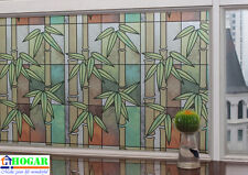 """CHOIS GW006 Adhesive Cling Privacy Frosted Bamboo Glass Window Films 35"""" x 60"""""""