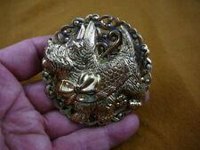 (b-dog-330) Scottish terrier pin pendant I love my Scottie ribbon dog Schnauzer
