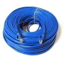 100 FT CAT5e 24 AWG  RJ45 Ethernet LAN Network Patch Cable Solid UTP Snagless