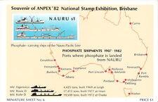 Nauru 1982 Phosphate Industry Anniversary Souvenir Sheet MNH (SC# 256)