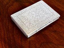 ~ SUPERB MARIO BUCCELLATI ITALIAN .800 SILVER SNUFF BOX / CARD CASE NO MONOGRAM