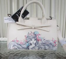 Disney Loungefly Ariel Little Mermaid Watercolor Small Satchel Crossbody Bag NWT