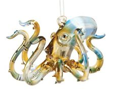 Ocean Sea Animal Octopus Glass 3 Inch Holiday Ornament Figurine