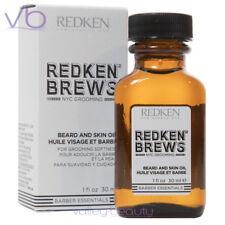 REDKEN (Brews, For Men, Beard Oil, Skin Moisturizer, Natural Oils, 30ml)
