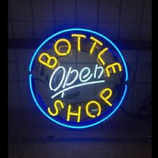 "New Bottle Shop Open 12""x12"" Neon Sign Lamp Light Beer Bar With Dimmer"