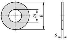 Paßscheiben DIN 988 Ausgleichsscheiben-Distanzscheiben Ø 3 - 25 mm Passscheiben