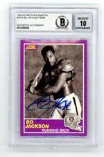Bo Jackson 1989 Score Supplemental Autograph - BAS 10