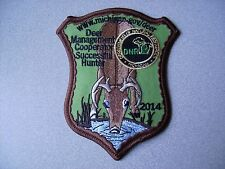 2014 MICHIGAN SUCCESSFUL DNR DEER HUNTING PATCH - BEAR - TURKEY - ELK