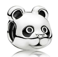 Fashion 925 Silver Crystal panda Charm European Beads Fit Necklace Bracelet !!