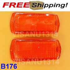 2 LENS AMBER  FIT FOR DATSUN 1200 120Y B210 510 FAIRLADY 240Z 260Z 280Z