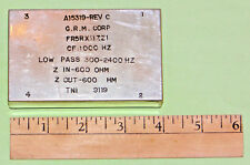 G.R.M. CORP Audio Band Pass Filter 300-2400Hz, CF 1000 Hz, 600Z:600Z FR5RX11ZZ1