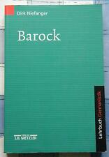Dirk Niefanger Barock Lehrbuch Germanistik Fachbuch Literatur 2000