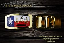 USN US NAVY CHIEF'S Texas GOLD BELT BUCKLE