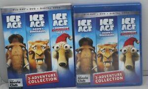 Ice Age 3-Adventure Collection Blu-Ray+DVD+Digital Code+ Slipcover,  Disney Club