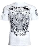 Archaic AFFLICTION Mens T-Shirt SHIELDED Redemption Tattoo Biker M-4XL $40 b