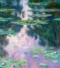 Monet 1907, Water Lillies, Lily, Canvas Print, Fade Resistant HD Print or Canvas
