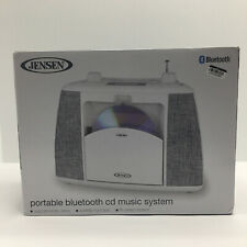 Jensen Portable Bluetooth CD Music System - White