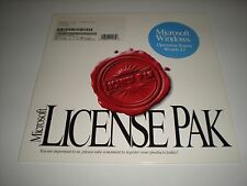 Microsoft Windows 3.11 license pak only.  No disks, media or manuals. Genuine.
