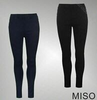 Ladies Miso Lightweight Slim Pockets Jeggings Bottoms Sizes Waist from 6 to 18