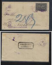 Guatemala postal envelope  registered to Switzerland       FA0814