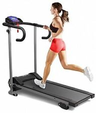 Motorised Electric 10 km/h Folding Treadmill Running Machine - Black