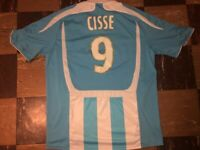 Olympique Marseille 2006 2007 Djibril Cisse ADIDAS Clima 365 Soccer N9UF Jersey