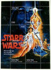 STAR WARS STAMPS SHEET ABKHAZIA STARR WARS SCI-FI BILL CLINTON MONICA LEWINSKY