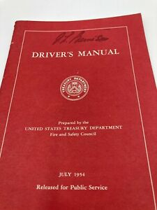 1954 United States Treasury Department Employees Driver's Manual Book Diagrams