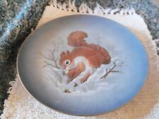 Hutschenreuther Wallace Relief Collector Plate 1973 Gracious Gift Squirrel