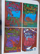 Counting Crows Fillmore Poster Set(4) Original Bill Graham F142-145 John Howard