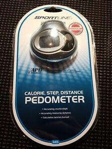 BRAND NEW! SPORTLINE Calorie, Step, Distance, Pedometer. Model WV3477PW #345