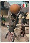 CARTE POSTALE AFRIQUE PIN UP FEMME NU NUE COTE D IVOIRE LA VIE AU VILLAGE