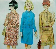 "Vintage 60s sewing pattern McCalls 8930 relaxed box suit belt detail 32"" uncut"