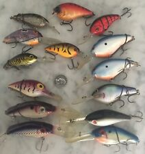 Lot 14 Norman Fishing Lures Divers Crankbaits Bagley Manns 6Th Sense Livingston