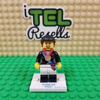 Lego Olympic 2012 Minifigures - Team GB Equestrian  - Lego Mini Figure w/ Base
