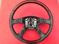 03 04 05 06 Cadillac Escalade EXT ESV Steering Wheel Leather Wood Radio