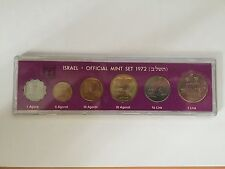 1972 BANK OF ISRAEL OFFICIAL MINT SET - 6 MARKED COINS IN CASE